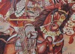 格萨尔绘画艺术家仁青尖措与格萨尔三十员大将