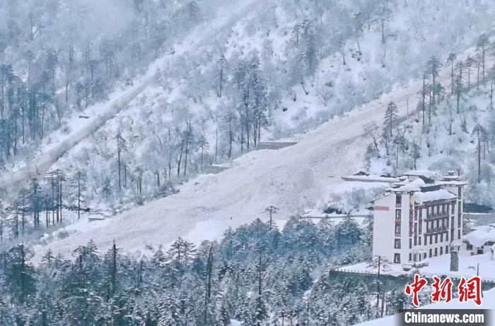 进出西藏墨脱唯一公路因雪崩中断现场无滞留人员和车辆