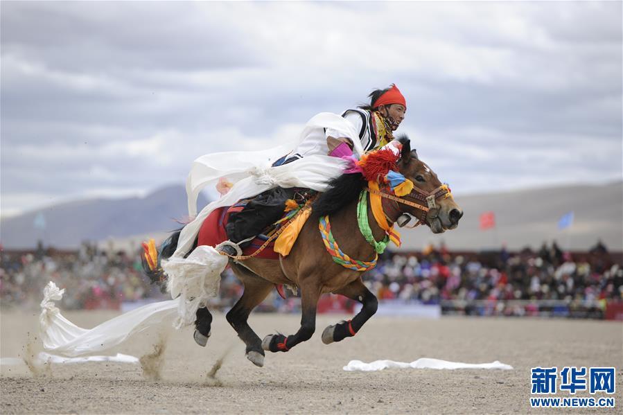(体育)(4)西藏阿里举行赛马竞技大赛