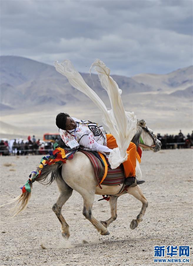 (体育)(7)西藏阿里举行赛马竞技大赛