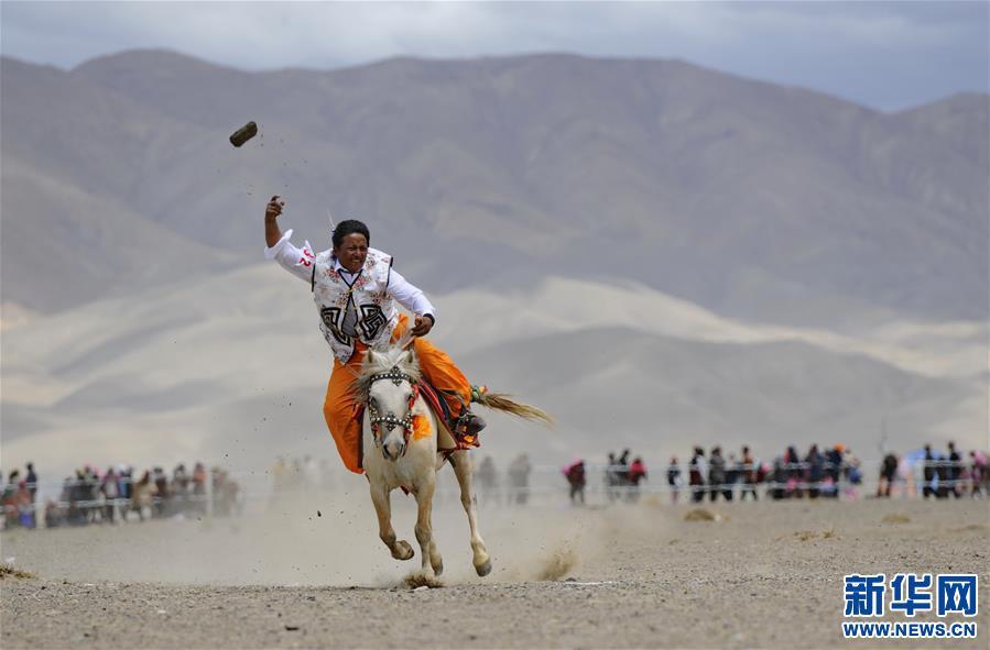 (体育)(12)西藏阿里举行赛马竞技大赛