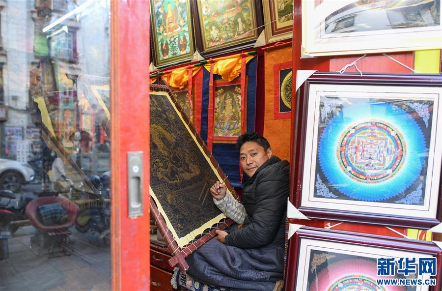 (社会)(2)笔尖神韵:古老八廓街里的唐卡秀