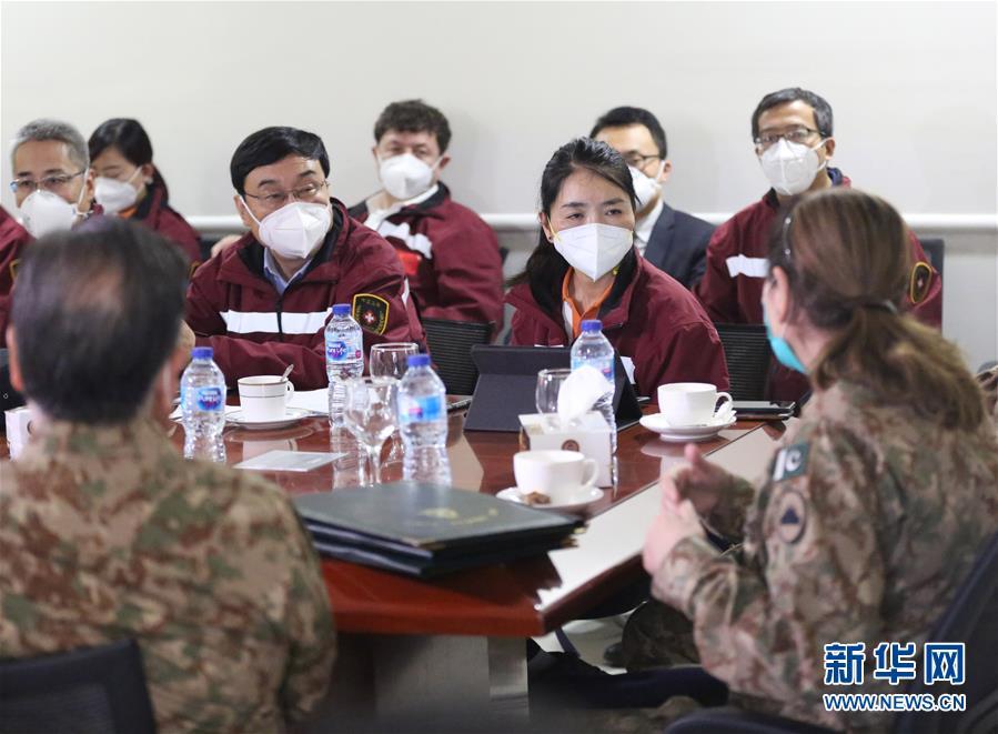 (国际疫情)(1)中国专家与巴基斯坦医务人员交流防疫理念