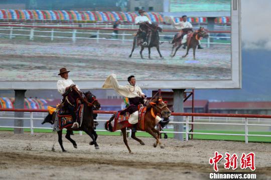 """策马奔腾西藏当雄赛马节""""开跑"""""""