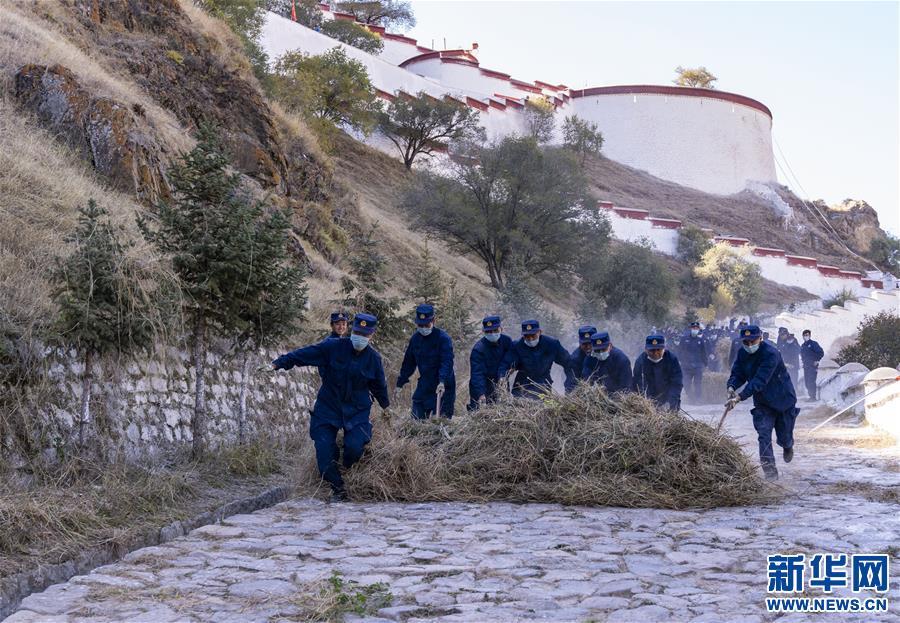 (社会)(3)除草保障布宫安全过冬