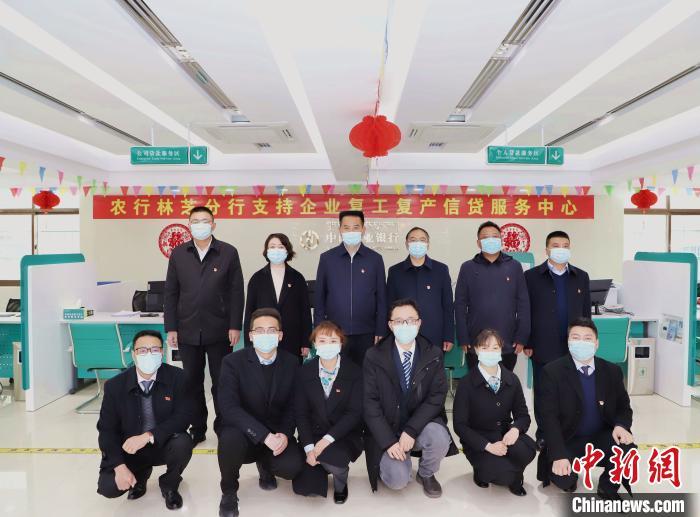 图为西藏辖区中国农业银行开辟信贷专有渠道支持企业复工。 赵朗 摄