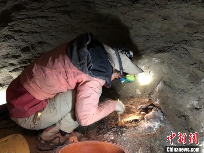 图为2019年,西藏考古人员在阿里札达县进行考古。 西藏文研所供图 摄