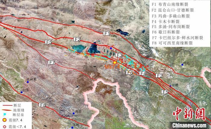 青海玛多7.4级地震:653条地裂缝呈北西-南东向展布