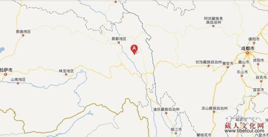 西藏昌都地区察雅县香堆镇地图