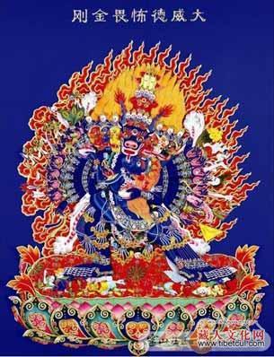藏族佛教风格花纹