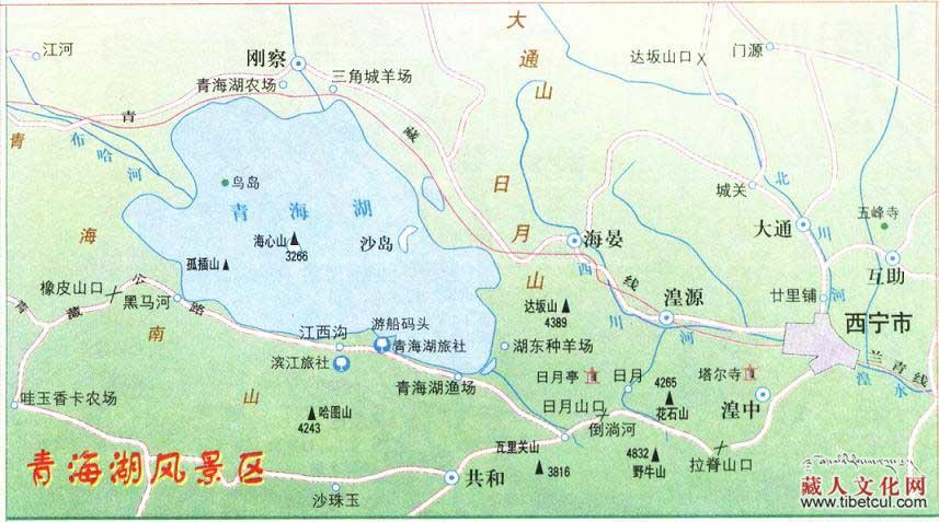 青海地图全图可放大