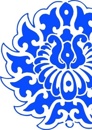 西藏布花纹素材